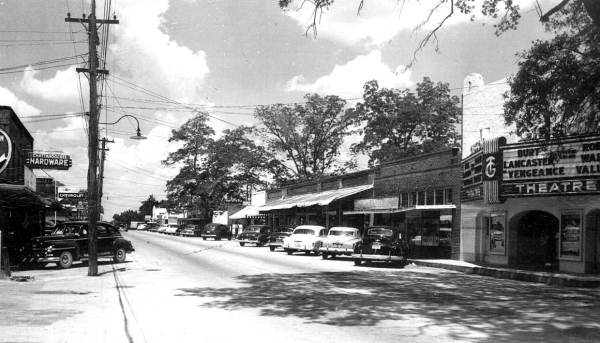 (State Archives of Florida) Vengeance Valley was showing the day this photograph of dowtown Chattahoochee was shot in 1951.